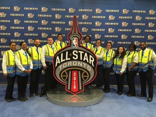 picture showing Sword provided professional event security as security providers to the NBA at the All Star Weekend in Toronto